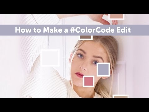 How to Make a #ColorCode Edit With PicsArt