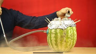 How Watermelon Hookah Are Made[Watermelon, apple, pineapple] - First Time In India