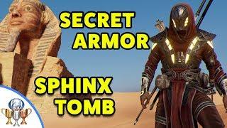 Assassin's Creed Origins - Sphinx SECRET Tomb - How to Get Legendary ISU ARMOR  in Sphinx Mystery