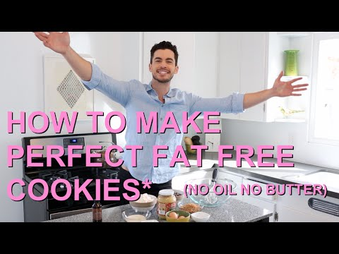 EASY PERFECT FAT FREE COOKIES : CHOCOLATE CHIP (NO OIL/NO BUTTER)