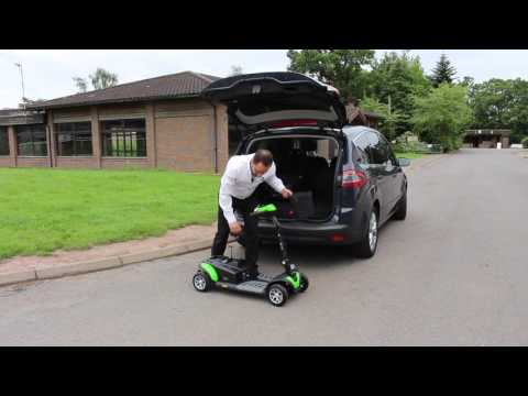 How to get a TGA Zest mobility scooter into the boot of a car
