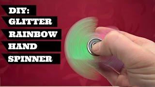 Download DIY Fidget Toy Spinner Glitter Rainbow | DIY Fidget Hand Spinner Glitter Rainbow Video