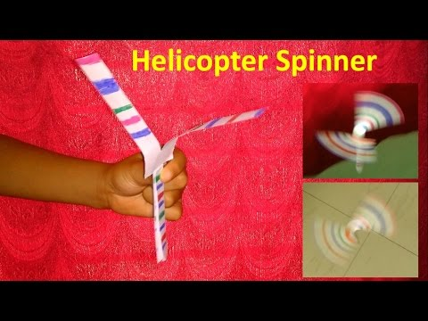 Make a paper helicopter spinner
