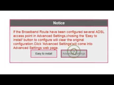Modem Settings for Broadband in PTCL Tenda W150D Modem
