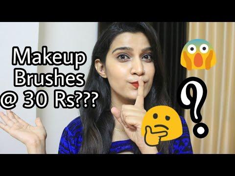 Makeup Brushes at 30 Rs??? | Beginners Makeup Brush Guide| Affordable makeup brush