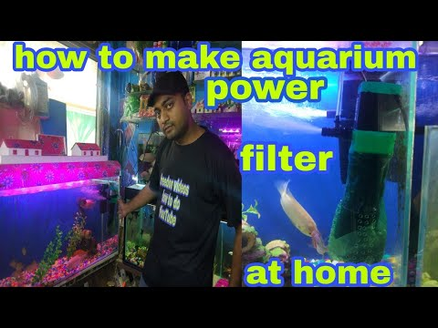 how to make aquarium power filter at home make air pump 2in one