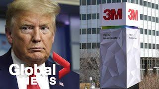 Coronavirus outbreak: Trump wants 3M to stop sending masks to Canada