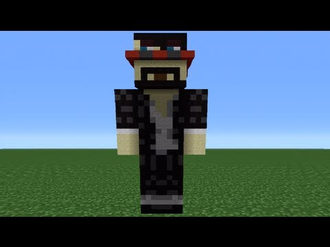 Minecraft 360: How To Make A CaptainSparklez Statue