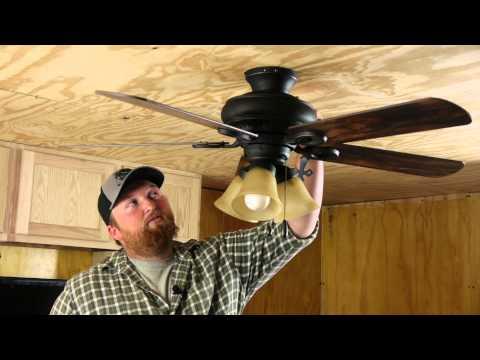 How to Tighten a Loose Ceiling Fan : Ceiling Fan Repair