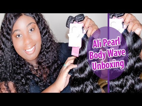 Ali Pearl Aliexpress Brazilian Body Wave Unboxing