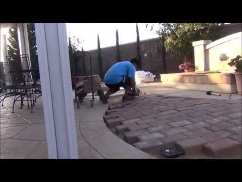 How I installed pavers in the backyard - DIY paving stones