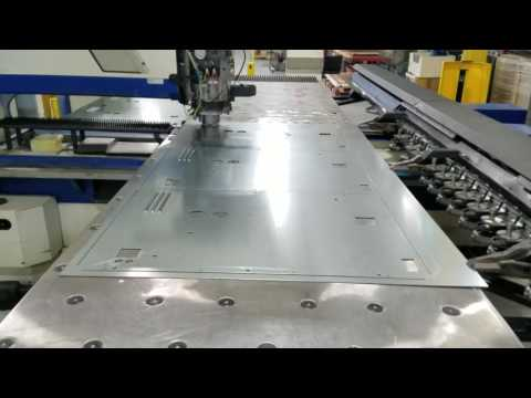 Punching Louvers in Galvanized Sheet