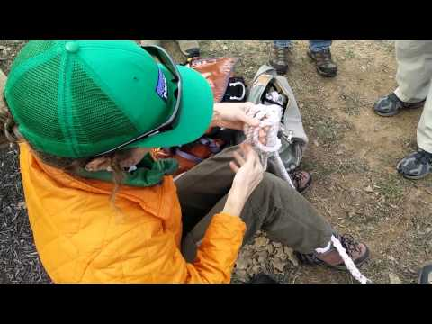 ADVANCED ROPE SKILLS: Tying a prusik knot to a y-lanyard.