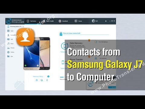 How to Backup Contacts from Samsung Galaxy J7 to Computer