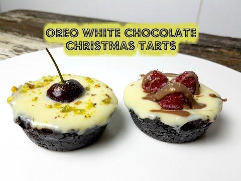 OREO WHITE CHOCOLATE CHRISTMAS TARTS - CookingwithKarma