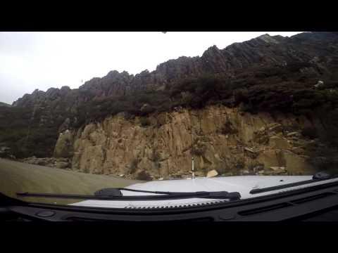 A drive up Jacobs Ladder, Ben Lomond National Park, Tasmania