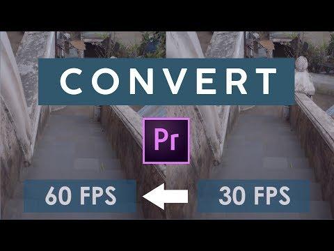 Cara convert video 30 FPS jadi 60 FPS | Adobe Premiere