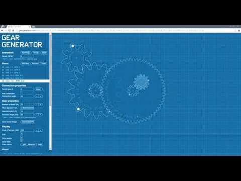 Gear Generator - Prototype your gear sets in 2D