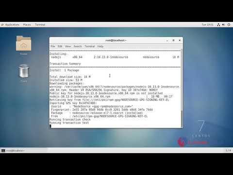 How to install Node.js 10 on CentOS7