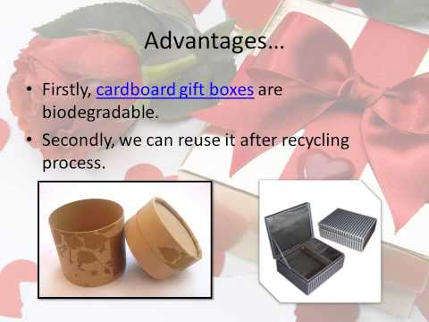 Beautify cardboard gift boxes for eye-catching look