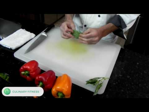 How to cut Basil | Chef Dennis Berry | Culinary Fitness | Healthy Cooking Videos