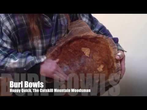 White Oak Burl Bowl