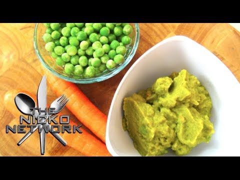 Peas & Carrot Puree - Baby Food Recipe
