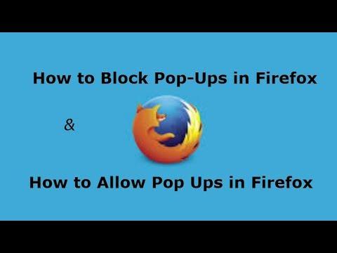 Windows 10 How to Block Pop Ups in Firefox