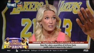 FIRST THINGS FIRST | Sarah Kustok react to Lakers acquisition of Anthony Davis to pair with LeBron