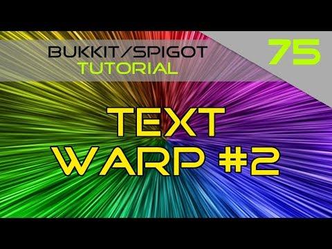 Minecraft Bukkit/Spigot Plugin Tutorial #75: Text Warp #2
