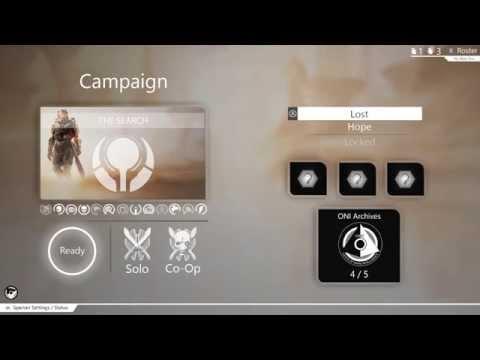Halo 5: Guardians Menú (Beta)