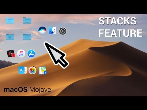 How to use stacks in macOS Mojave