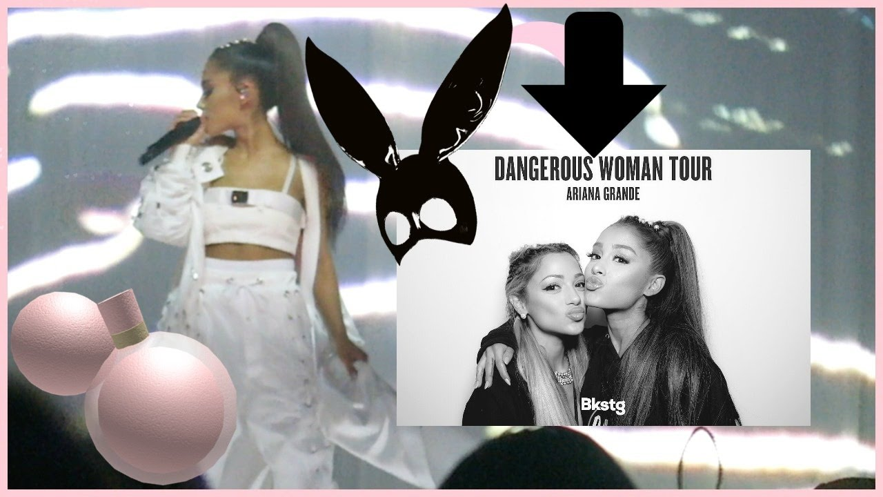 """DANGEROUS WOMAN TOUR VLOG! """"wannabe"""" meets ariana (FOOTAGE)"""