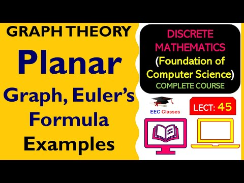 Planar Graph, Euler's Formula with Solved Examples - GRAPH Theory Lectures in Hindi