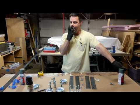 Building Double Barn Doors: Painting Metal