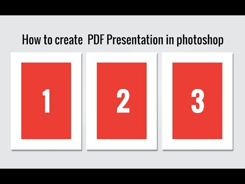 How to create  PDF Presentation in photoshop