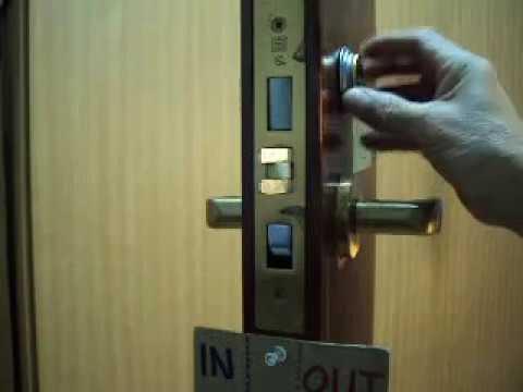 Emhart Russwin mortise lock removal from the door 1