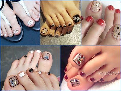 25+ Pretty Negative Space Toe Nail Art Design Ideas