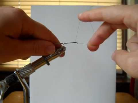 How To Whip Finish a Fly Using Fingers.