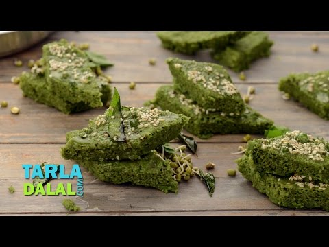 Sprouts Dhokla (Low Calorie) by Tarla Dalal