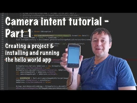 How to create an android camera using intents - Part 1