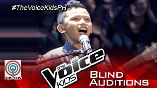 """The Voice Kids Philippines 2015 Blind Audition: """"Thinking Out Loud"""" By Gian"""