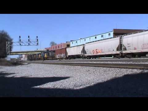 CSX freight stopping near Jefferson St. in Atlanta,GA