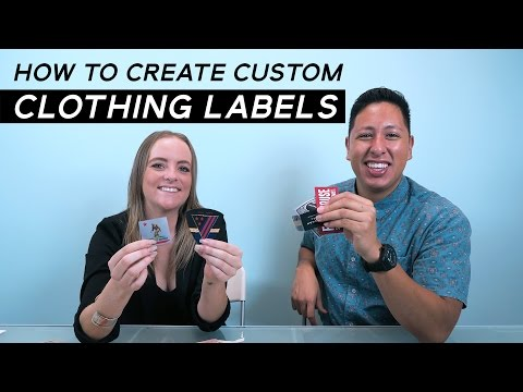 Custom Clothing Labels | Cuts, Folds and Stitching Options For Woven Labels