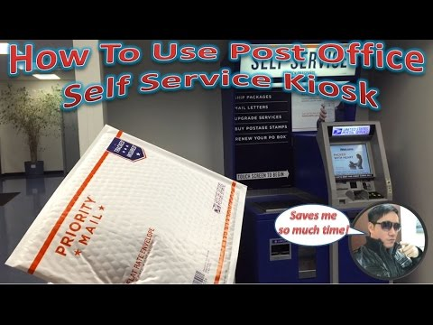 How To Use Post Office Self Service Kiosk