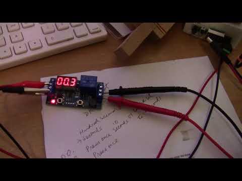 12 volt battery powered 18650 spot welder experiment  part 3: How timer works