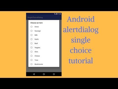 Android alertdialog single choice tutorial (Demo)