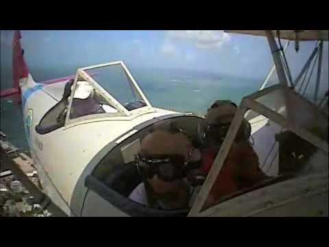 Biplane over Key West