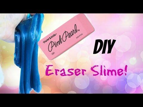 DIY ERASER SLIME! MAKE SLIME THAT ERASES! (Original Tutorial)