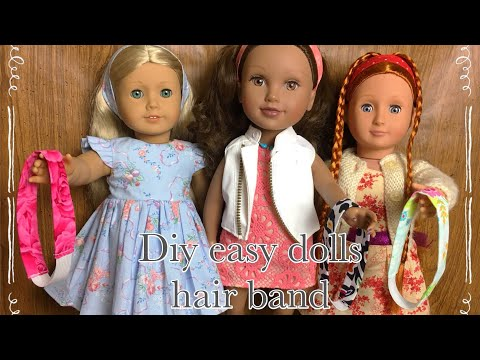 "Diy 18"" dolls hair band tutorial # easy sewing project # sewing project No.23"